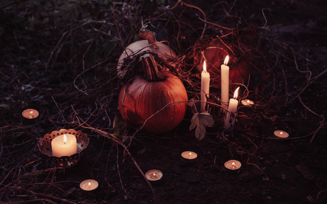 Halloween and Samhain: modern and ancient traditions as the wheel of the year turns.